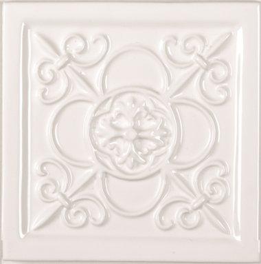 "Studio Tile Vizcaya Deco 5.8"" x 5.8"" - Snow Cap"