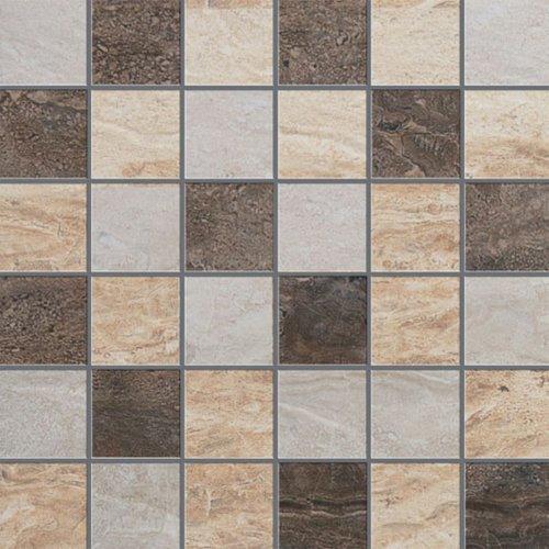 Happy Floors Sardinia Tile Mosaic 2 X 2 Warm Mix