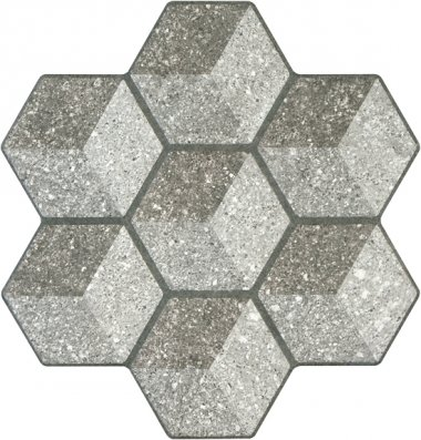 """Cube Tile 18"""" x 18"""" - Anthracite"""