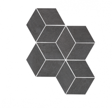 "Mark Mosaic Esagono Matte Tile 12"" x 13 7/8"" - Graphite"