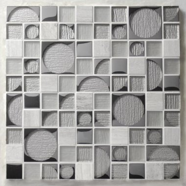 "Pop Rocks Glass Tile 11.8"" x 11.8"" - Mick"