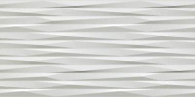 "3D Wall Design Blade Tile 16"" x 32"" - Matte White"