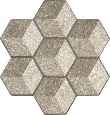 """Cube Tile 18"""" x 18"""" - Noce"""