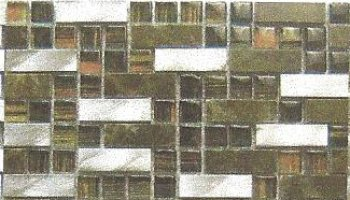 Aluminum, Silkscreened Glass & Emperador Dark Stone Tile - ALSKS01