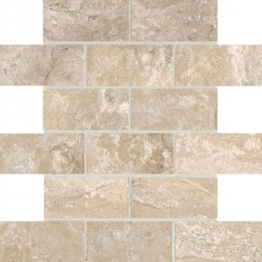 "Laurel Heights Tile Brick Joint Mosaic 2"" x 4"" - Elevated Beige"