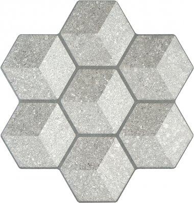 """Cube Tile 18"""" x 18"""" - Grey"""