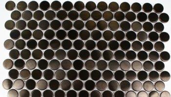 Metal Mosaics Tile Penny Round Circles 3/4