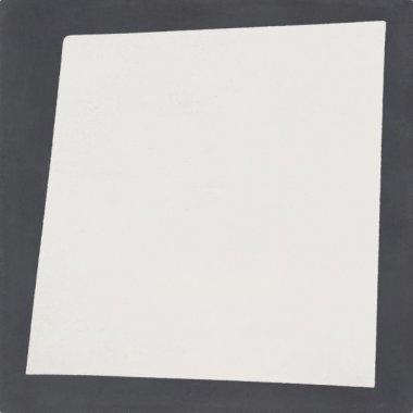 """Bati Orient Cement Tile Decor Modern Off Square 8"""" x 8"""" - Off White/Antracite"""