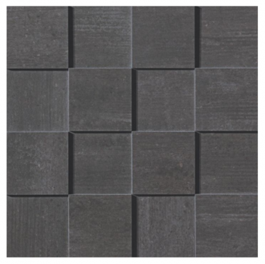 Mark Mosaic 3D Polished Tile 3 x 3 - Graphite