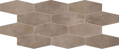 "Interno Tile Losanga Mosaic 12"" x 24"" - Mud"