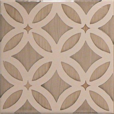 "Studio Tile Flower Deco Dawn 5.8"" x 5.8"" - Bamboo"