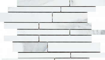 Carrara Tile Polished Mosaic - White