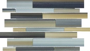 Bliss Fusion Glass Tile Random Strip Mosaic - Oxide