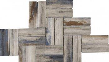 Glass Tile Herringbone Wood Look Matte 11
