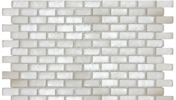 Alaska Glacier Brick Mosaic Tile - 11.8
