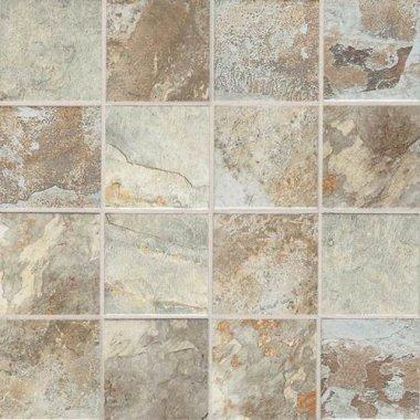 "Kendal Slate Tile Mosaic 3"" x 3"" - Easdale Neutral"