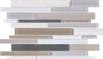 Bliss Stainless Glass Tile Mosaic - Twilight Mist