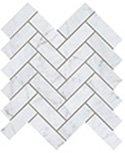 """Eon Tile Herringbone 1"""" x 4"""" - Carrara"""