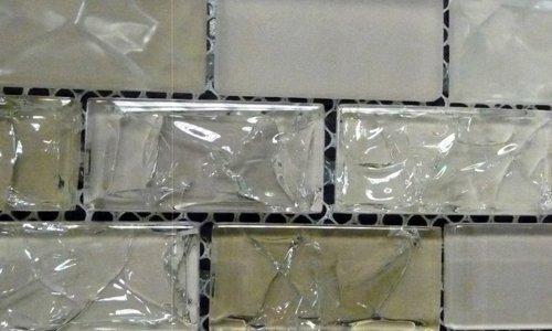 Crackle Glass Tile Brick 1