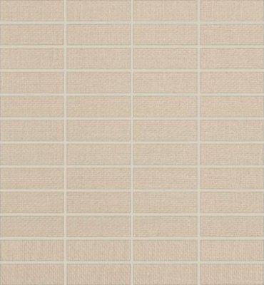 "Elemental Canvas Tile Mosaic 1"" x 3"" - Cream Canvas"