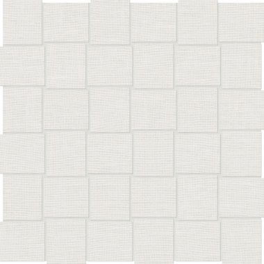 """Cambric Tile Basketweave 2"""" x 2"""" - White"""