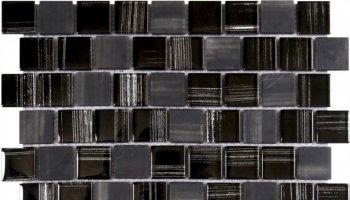 Glass Tile Linear Brick Glossy 12