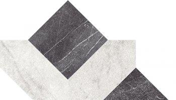 Centuries / Panarea Tile Cassettone - Antique Pisa/Black