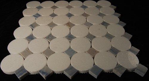 Soho Studio Marble Motion Stone Tile Mosaic Galaxy White