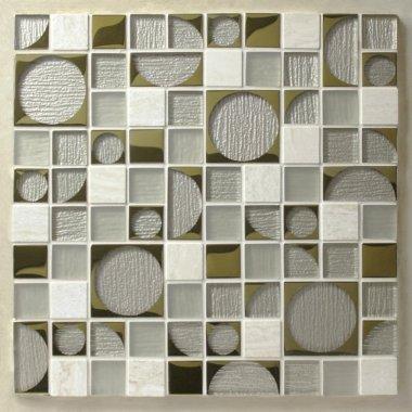 "Pop Rocks Glass Tile 11.8"" x 11.8"" - Chrissie"