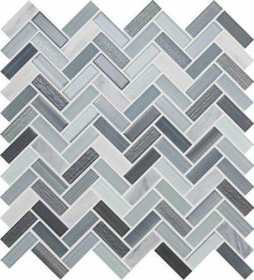 """Serentina Tile Herringbone 11 1/2"""" x 12 3/4"""" - Zen"""