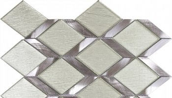Metal Tile Diamond Glass Aluminum 8.9