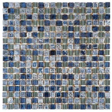 """Glass Tile Decor 5/8"""" x 5/8"""" - Blue"""