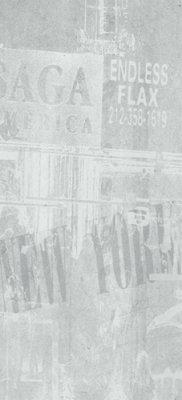 """Graffiti Tile Decor 12"""" x 24"""" - Cenere"""