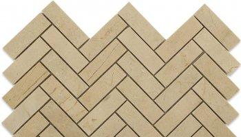 Crema Marfil Tile Herringbone 1