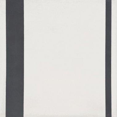 """Bati Orient Cement Tile Decor Modern Line 8"""" x 8"""" - Antracite/Off White"""