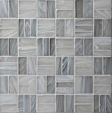 """Homespun Glass Tile Tweed 12"""" x 12"""" - Polwarth"""